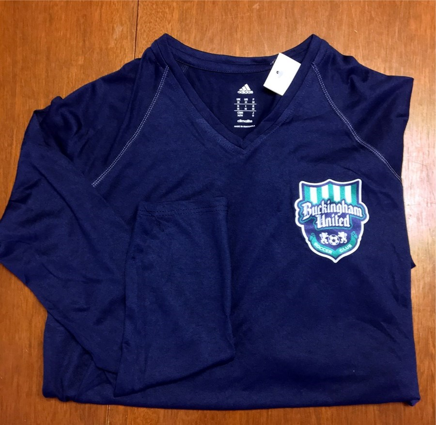 Adidas Women's ClimaliteT Collegiate L/S with BUSC or CBAA IM Soccer Logo