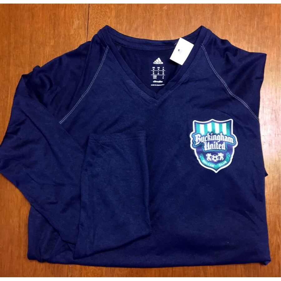 FEATURD PRODUCT - Adidas Women's ClimaliteT Collegiate L/S with BUSC or CBAA IM Soccer Logo