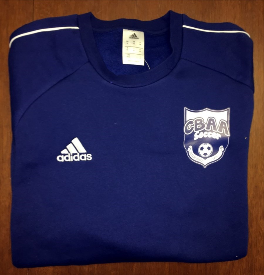 Adidas Core 18 Sweat Top with BUSC or CBAA IM Soccer Logo