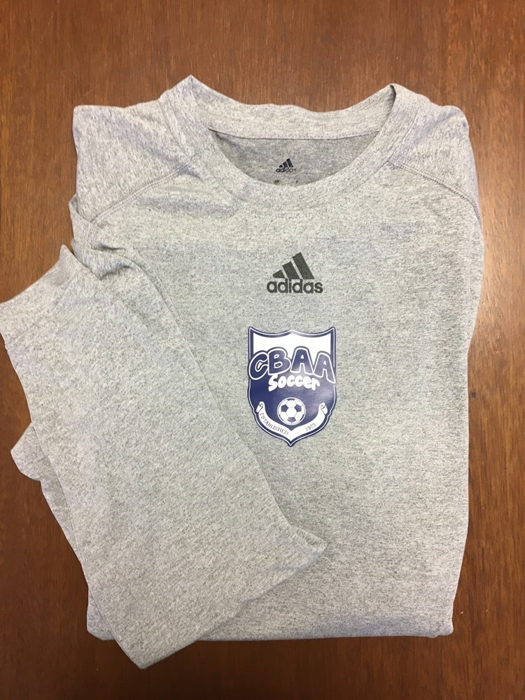 Adidas L/S  Performance T with BUSC or CBAA IM Soccer Logo